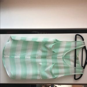 Striped tank top - double breast pocket.